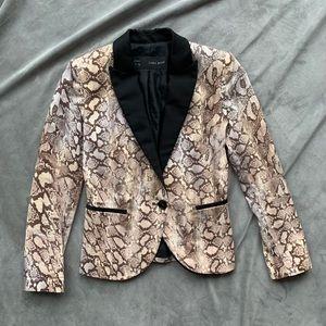 Zara snake pattern jacket